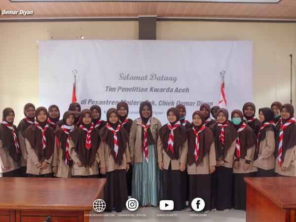 Kwarda Aceh mengunjungi pesantren Oemar Diyan dalam Rangka Penelitian pramuka Santri
